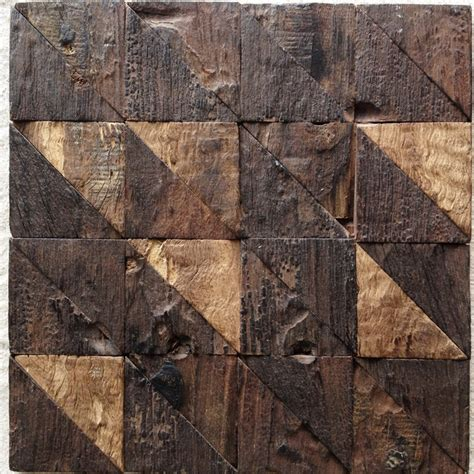 wood pattern vitrified tiles unique design rustic natural old ship wood tile triangle