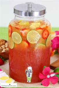 Easy Party Cocktail Recipes - tropical rum punch recipe summer luau party ideas