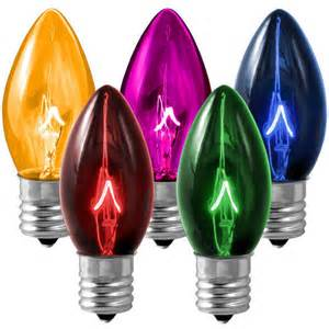 light bulb color 25 pack transparent multi color c9 light bulbs 7 watt