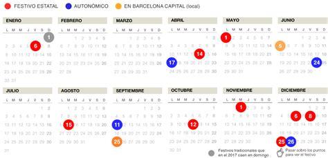 Calendario Barcelona 2017 El Calendario Laboral 2017 En Catalunya Tendr 225 15