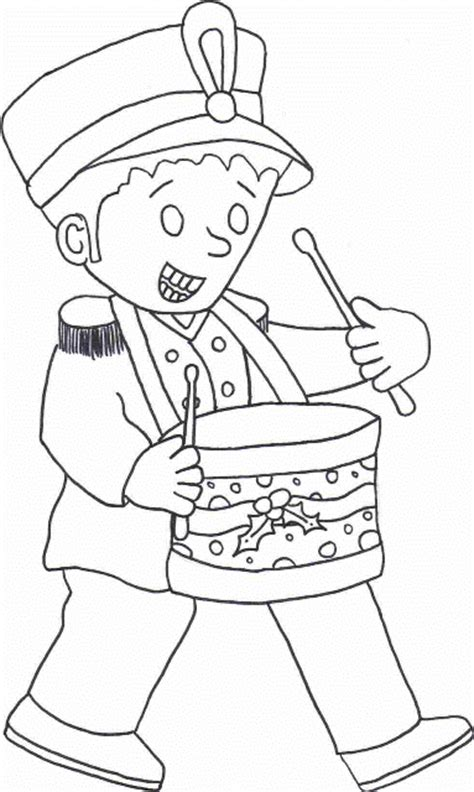 Coloring Pages Drummer Boy | printable drummer boy coloring sheet