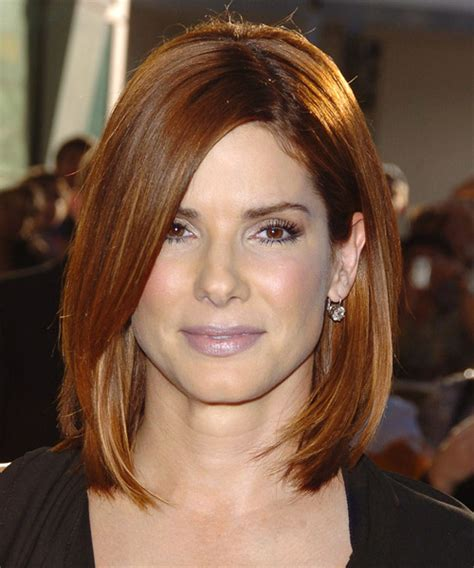 hairstyles for thick straight hair square face sandra bullock hairstyles in 2018