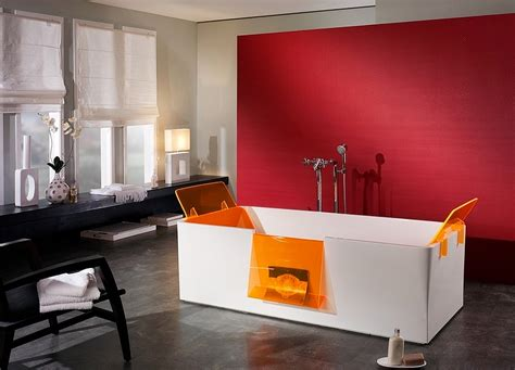 red accent wall 21 sensational bathrooms with the ravishing flair of red