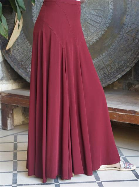 Maxi Rok Jersey Aliyahsaliyyah Bata Xl flared panel maxi skirt maxi skirts
