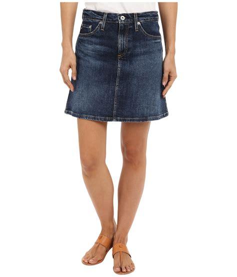 A Line Mini Denim Skirt ag adriano goldschmied the ali a line mini denim skirt in