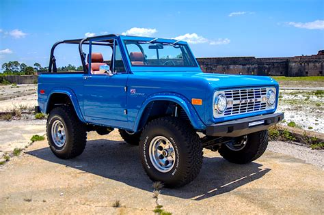 blue bronco 76 classic ford bronco restomod is what quot sky blue quot dreams