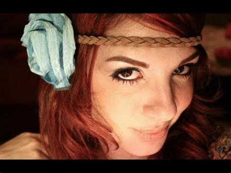 natural hippie makeup tutorial hippie 70 s make up tutorial youtube