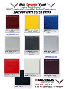 paint colors for 2017 2017 actual corvette color chips rick conti coughlin