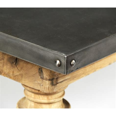 zinc top wood dining table a cottage in the city