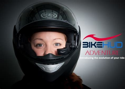 Motorradhelm Hud by Bikehud Generation 2 Adventure System Announced Teams Up