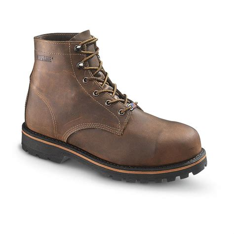 s wolverine 174 plainsman 6 quot work boots brown 282657