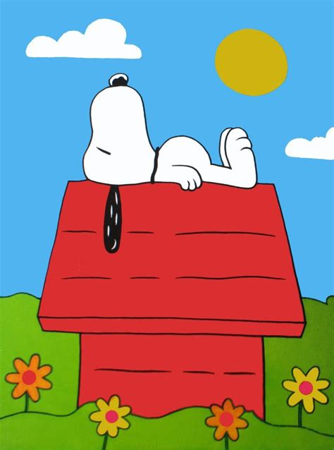 snoopy on his dog house contest for a customized dog house from the house