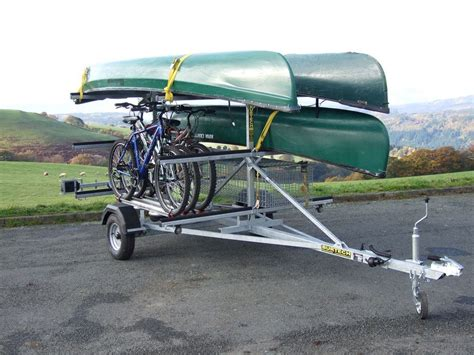 canoes trailers c6 low line canoe kayak trailer mountain bike trailers