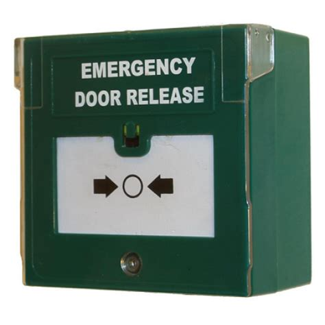 Emergency Door Release by Rgl Edr 1 Emergency Door Release Button Green