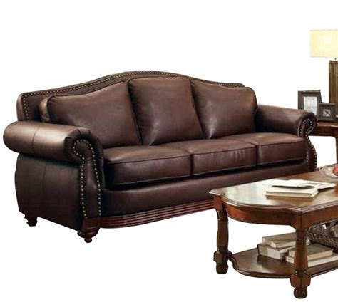 Leather Sofa Deal Midwood Traditional Brown Wood Bonded Leather Sofa Living Rooms The Home Best