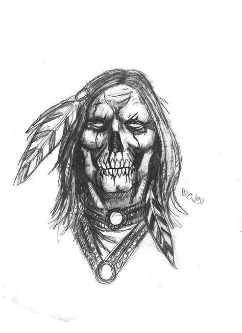 native american skull tattoos american skull by darkmatteria deviantart on