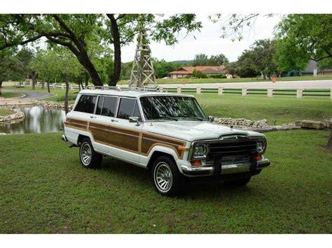 1989 jeep wagoneer for sale 1989 jeep wagoneer for sale classiccars com cc 1001396