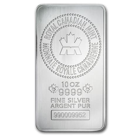 10 Oz Silver Bars Royal Canadian Mint 10 Oz Silver