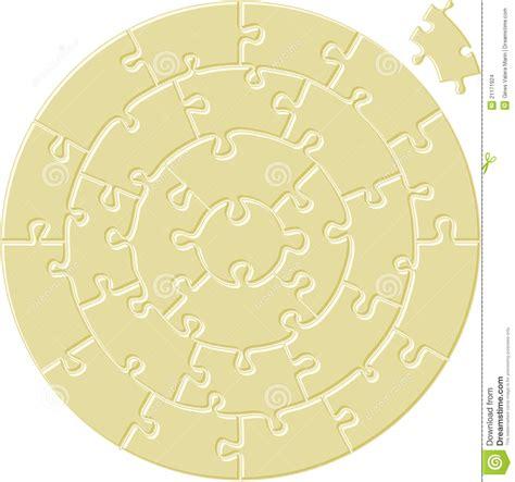 Circular Simple Puzzle Stock Images Image 21171924 Circular Jigsaw Puzzles