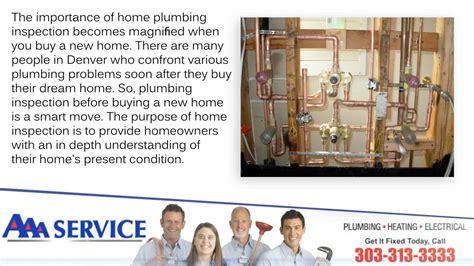Plumbing Denver Colorado - home plumbing inspection aaa today denver colorado