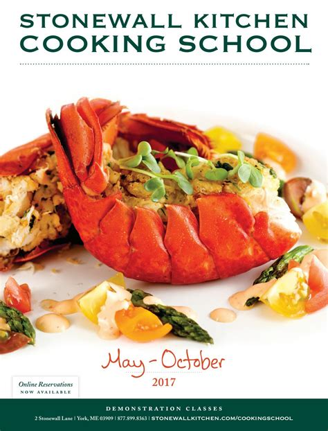 Stonewall Kitchen Cooking School by Swk Cooking School Brochure May Oct By Stonewall Kitchen