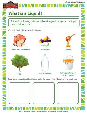 science worksheets grade 1 what is a liquid grade science school of