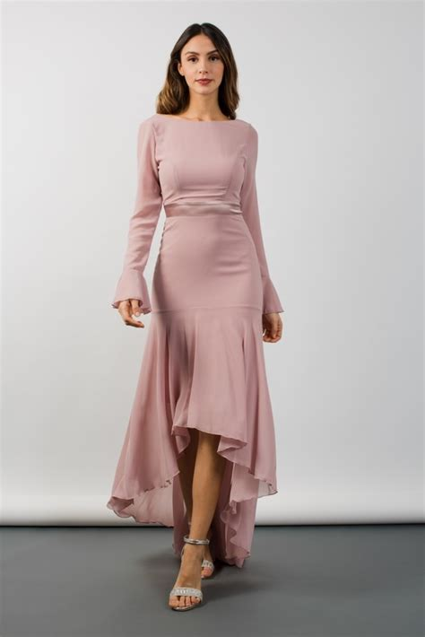 Valda Dress tfnc valda hi lo mauve maxi dress tfnc dresses
