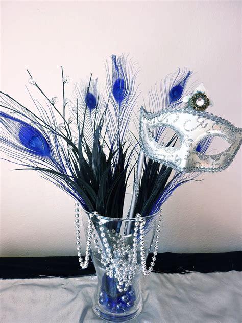 Masquerade Centerpiece Ideas   Bad lighting, but you get