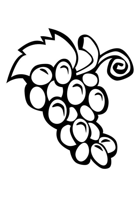 free coloring page of grapes free grapes coloring pages