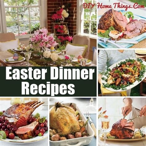 traditional easter dinner recipes diy home things