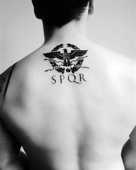 40 spqr tattoo designs for men senātus populusque