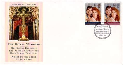 Gb New High Value Definitive 17 Sept 1985 Fd Cover royal wedding 1986 collect gb sts
