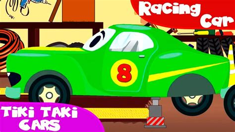 cartoon race car racing cars with car service car wash cars trucks