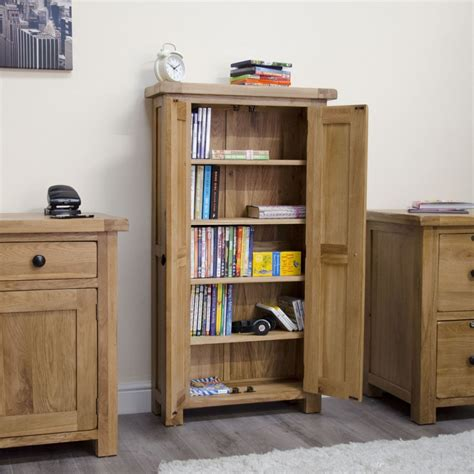 Oak Cd Storage Cabinet Original Rustic Cd Dvd Storage Cabinet Bookcase Unit Solid Oak Furniture Ebay