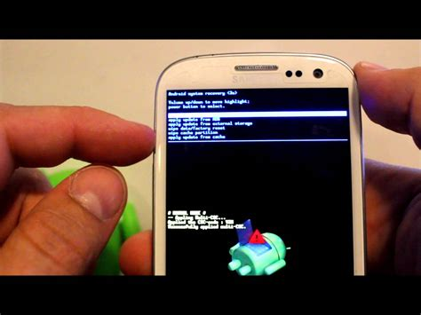 android recovery mode how to enter android recovery factory reset the galaxy s3