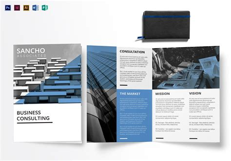 Business Consulting Bi Fold Brochure Design Template In Psd Word Publisher Illustrator Indesign Bi Fold Brochure Template Illustrator