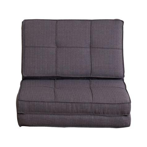 homcom fold out futon single sofa bed homcom foldable single sofa bed grey aosom co uk