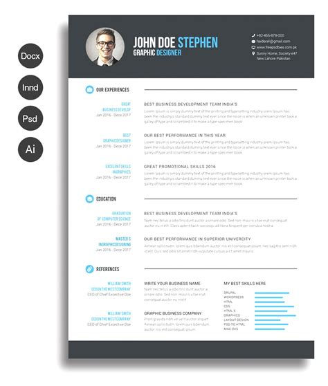 unique resumes templates unique free resume templates images ms word