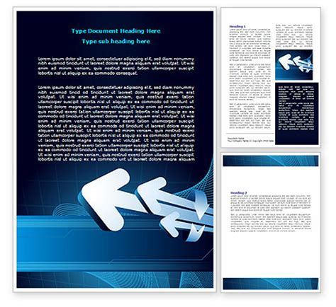 Direction Card Template Microsoft Word by Direction Arrows Word Template 08056 Poweredtemplate