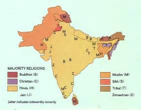 India Religion Map by Religions