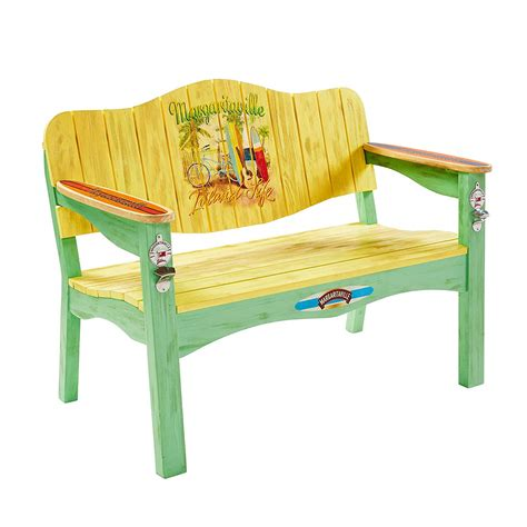 margaritaville outdoor wood side table in blue margaritaville at home margaritaville outdoor furniture