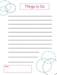 Things To Do Template Pdf by Free Printable To Do Lists Colorful Templates