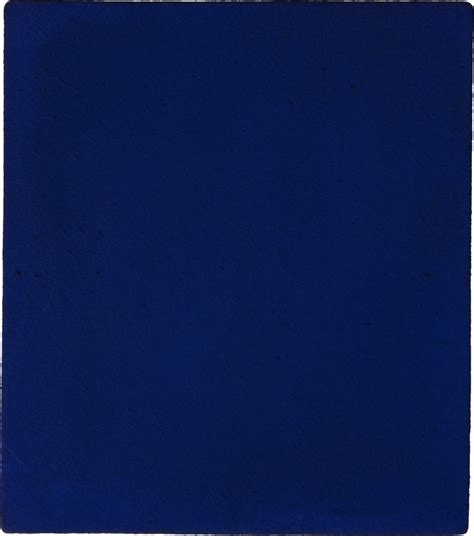Klein Blue by Yves Klein Untitled Blue Monochrome Ikb 187 1960 Artsy