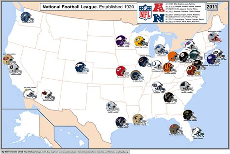 map usa nfl teams nfl team map sports football stadiums and
