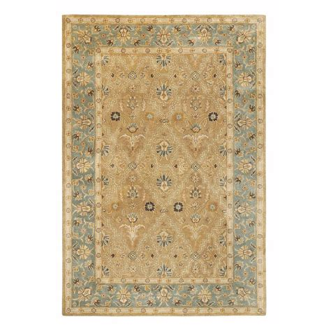 decorator rugs home decorators collection menton gold and blue 8 ft x 11 ft area rug 8768120910 the home depot