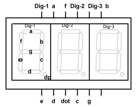 7 Segmen Seven Segment Led Display 1 Digit Common Cathode 056 7 segment display cc 3 digit 0 56in techshopbd