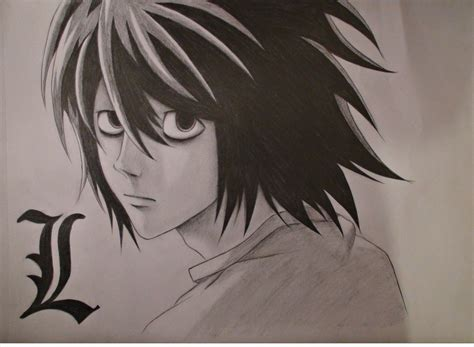I love L | Death Note | Pinterest L Death Note Drawing