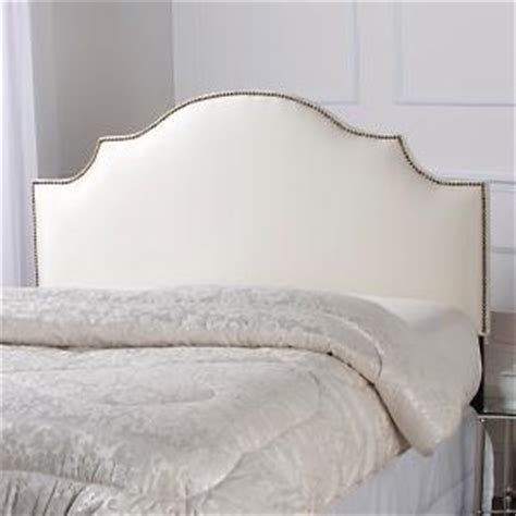 white nailhead headboard nailhead trim upholstered white headboard