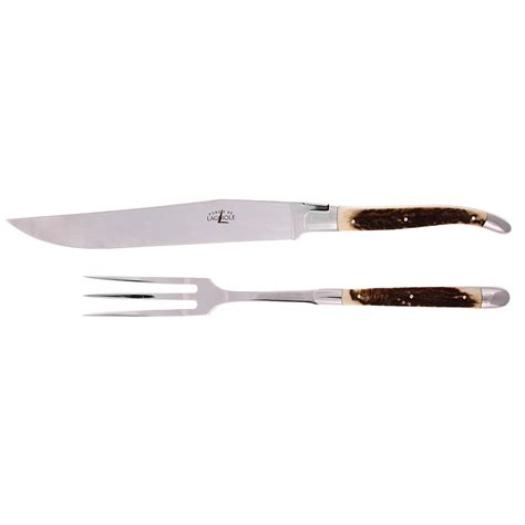 kitchen forks and knives buy forge de laguiole stag horn carving knife set amara