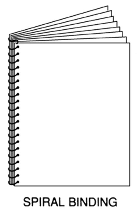 Common Binding Methods Illustration Spiral Bound Book Template